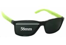 Sunglass Fix Sunglass Replacement Lenses for Arnette Slickster AN4185 - 58mm Wide