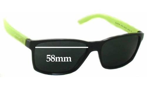 Sunglass Fix Sunglass Replacement Lenses for Arnette Slickster AN4185 Sunglass Replacement Lenses- 58mm wide