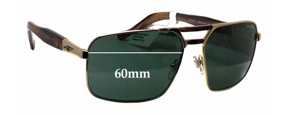 Sunglass Fix Sunglass Replacement Lenses for Arnette Smokey AN3068 - 60mm Wide