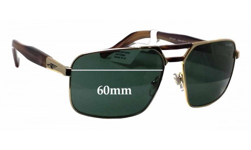 Sunglass Fix Sunglass Replacement Lenses for Arnette Smokey AN3068 - 60mm Wide
