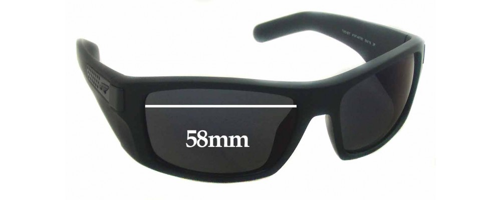 Sunglass Fix Replacement Lenses for Arnette Two-Bit AN4197 - 58mm Wide