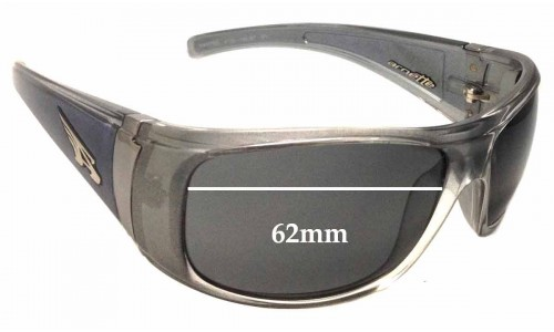 Sunglass Fix Sunglass Replacement Lenses for Arnette Wanted AN4122 - 62mm Wide