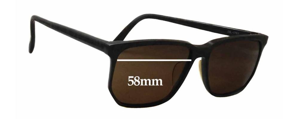 Sunglass Fix Sunglass Replacement Lenses for Bada Grace 555 - 58mm Wide