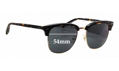 Sunglass Fix Sunglass Replacement Lenses for Bailey Nelson Bronte - 54mm Wide