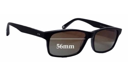 Sunglass Fix Sunglass Replacement Lenses for Bailey Nelson Eliot - 56mm Wide