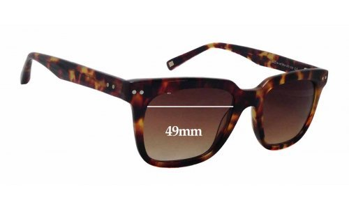 Sunglass Fix Sunglass Replacement Lenses for Bailey Nelson Wallace - 49mm Wide x 39mm Tall