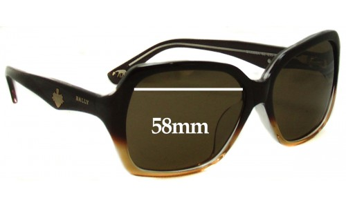 Sunglass Fix Sunglass Replacement Lenses for Bally BY2008A - 58mm Wide