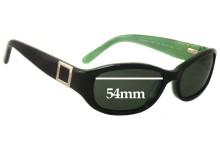 Sunglass Fix Sunglass Replacement Lenses for Banana Republic Susan/S - 54mm Wide