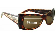 Sunglass Fix Sunglass Replacement Lenses for Black Flys Bella Fly - 58mm Wide