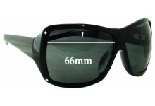 Sunglass Fix Sunglass Replacement Lenses for Black Flys Fly Girls On The Fly - 66mm Wide