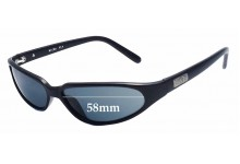 Sunglass Fix Sunglass Replacement Lenses for Black Flys Micro Fly - 58mm Wide
