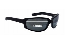 Sunglass Fix Sunglass Replacement Lenses for Black Flys Roll The Flys - Lucky Fly - 63mm Wide