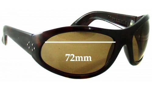 Sunglass Fix Sunglass Replacement Lenses for Blinde 88 Specials Replacement Sunglass Lenses - 72mm wide