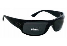 Sunglass Fix Sunglass Replacement Lenses for Blinde Fellini - 61mm Wide