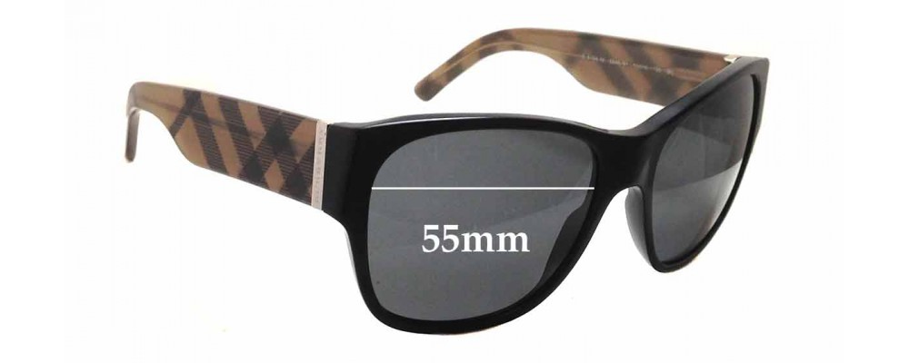 098bce9a4132 Sunglass Fix Sunglass Replacement Lenses for Burberry B 4104 M - 55mm wide