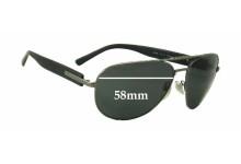 Sunglass Fix Sunglass Replacement Lenses for Bvlgari 5018 - 58mm Wide