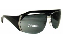 Sunglass Fix Sunglass Replacement Lenses for Calvin Klein CK448S - 73mm Wide *Must Be Installed By The Sunglass Fix*