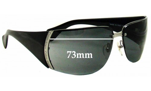 Sunglass Fix Sunglass Replacement Lenses for Calvin Klein CK448S - 73mm Wide *Must Be Installed By The Sunglass Fix*