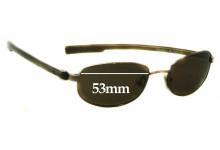 Sunglass Fix Sunglass Replacement Lenses for Calvin Klein CK1038S - 53mm Wide