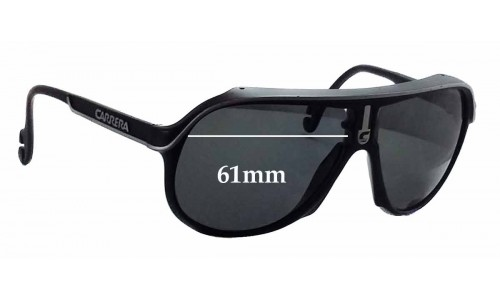 aecd86926652 Sunglass Fix Sunglass Replacement Lenses for Carrera CA 5544 - 61mm wide