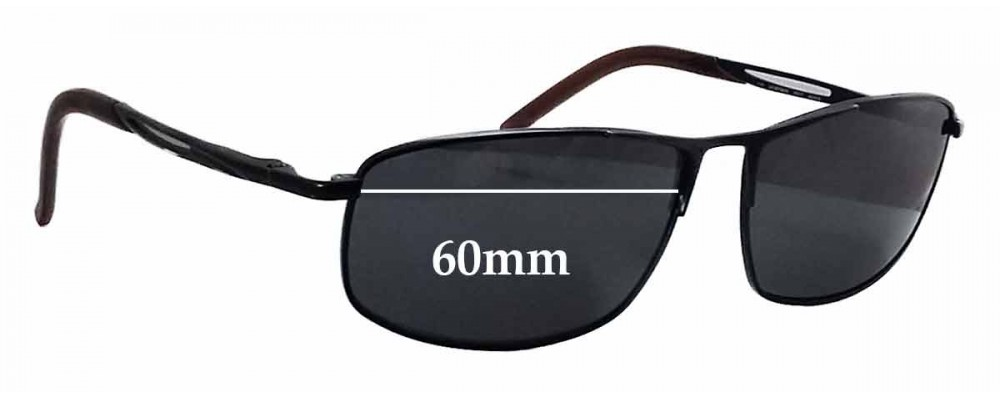 413345a40ba2 Sunglass Fix Sunglass Replacement Lenses for Carrera Huron/S - 60mm wide