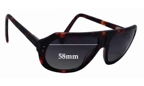 Sunglass Fix Sunglass Replacement Lenses for Chachi TSL 1550N - 58mm Wide