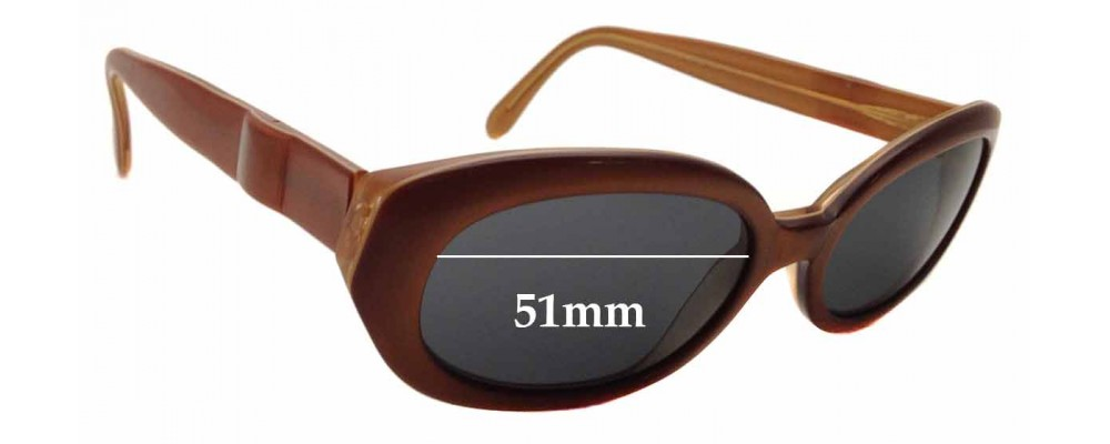 Sunglass Fix Sunglass Replacement Lenses for Chagall LL45162 - 51mm Wide