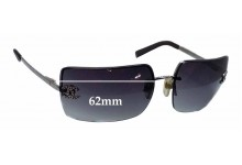 Sunglass Fix Sunglass Replacement Lenses for Chanel 4092-B - 62mm Wide