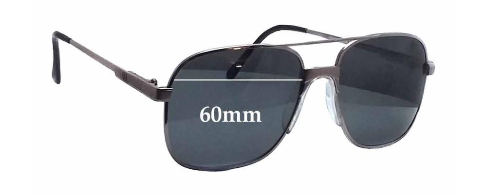 Sunglass Fix Sunglass Replacement Lenses for Clark Kent Highlander  - 60mm Wide