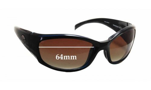 Sunglass Fix Sunglass Replacement Lenses for Costa Del Mar HammerHead - 64mm Wide x 40mm Tall