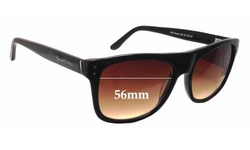 Sunglass Fix Sunglass Replacement Lenses for Derek Cardigan DC7028 - 56mm Wide
