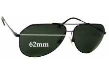 Sunglass Fix Sunglass Replacement Lenses for Dolce & Gabbana DG2129 - 62mm Wide