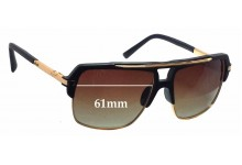 Sunglass Fix Sunglass Replacement Lenses for Dita Mach Four - 61mm Wide