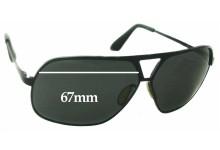 Sunglass Fix Sunglass Replacement Lenses for Dita Pusher - 67mm Wide