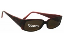 Sunglass Fix Sunglass Replacement Lenses for DKNY DY4056 - 56mm Wide