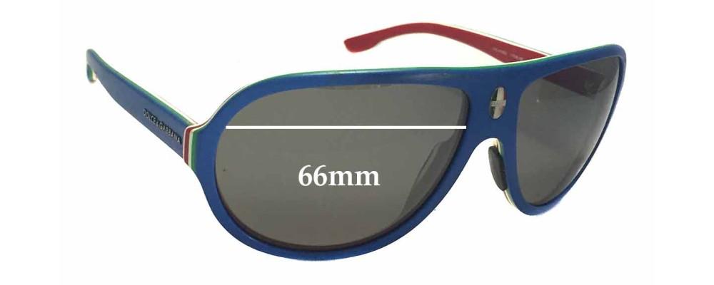 Sunglass Fix Sunglass Replacement Lenses for Dolce & Gabbana DG4083 - 66mm Wide