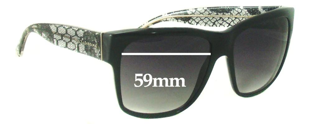 Sunglass Fix Sunglass Replacement Lenses for Dolce & Gabbana DG4121 - 59mm Wide