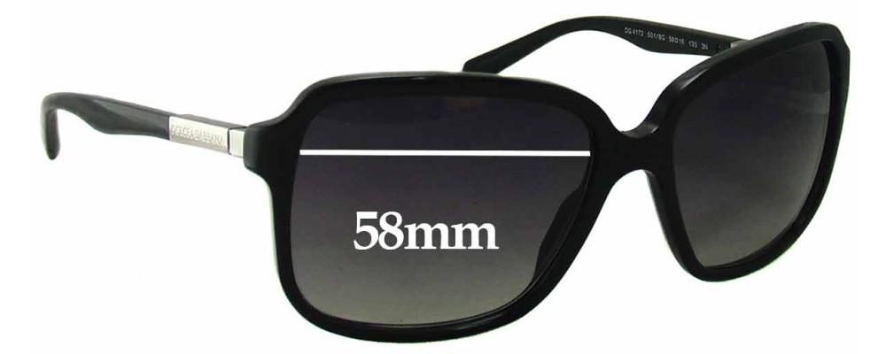 Sunglass Fix Sunglass Replacement Lenses for Dolce & Gabbana DG4172 - 58mm Wide