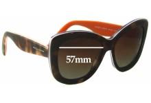 Sunglass Fix Sunglass Replacement Lenses for Dolce & Gabbana DG4206 - 57mm Wide