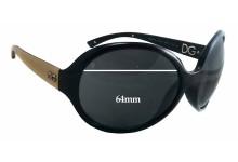 Sunglass Fix Sunglass Replacement Lenses for Dolce & Gabbana DG6043 - 64mm Wide x 57mm Tall
