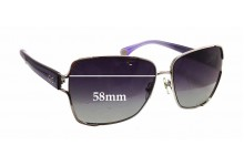 Sunglass Fix Sunglass Replacement Lenses for Dolce & Gabbana DG6085 - 58mm Wide x 60mm Tall