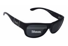 Sunglass Fix Sunglass Replacement Lenses for Dolce & Gabbana DG8050 - 58mm Wide