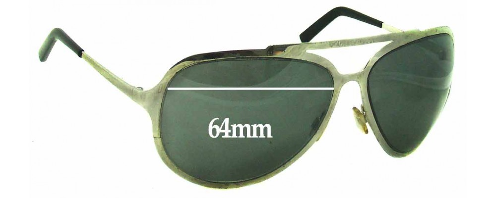 Sunglass Fix Sunglass Replacement Lenses for Dolce & Gabbana DG435S - 64mm Wide