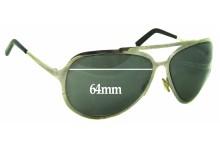 Sunglass Fix Sunglass Replacement Lenses for Dolce & Gabbana DG435S - 64mm Wide
