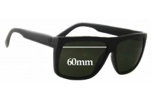 Sunglass Fix Sunglass Replacement Lenses for Electric Black Top - 60mm Wide