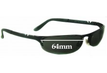 Sunglass Fix Sunglass Replacement Lenses for Emporio Armani EA 203/S - 64mm Wide