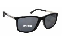 Sunglass Fix Sunglass Replacement Lenses for Emporio Armani EA 4058 - 58mm Wide
