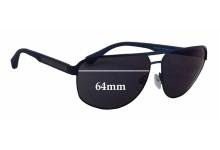 Sunglass Fix Sunglass Replacement Lenses for Emporio Armani EA2025 - 64mm Wide