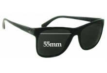 Sunglass Fix Sunglass Replacement Lenses for Emporio Armani EA 4002 - 55mm Wide