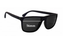 Sunglass Fix Sunglass Replacement Lenses for Emporio Armani EA4033 - 56mm Wide
